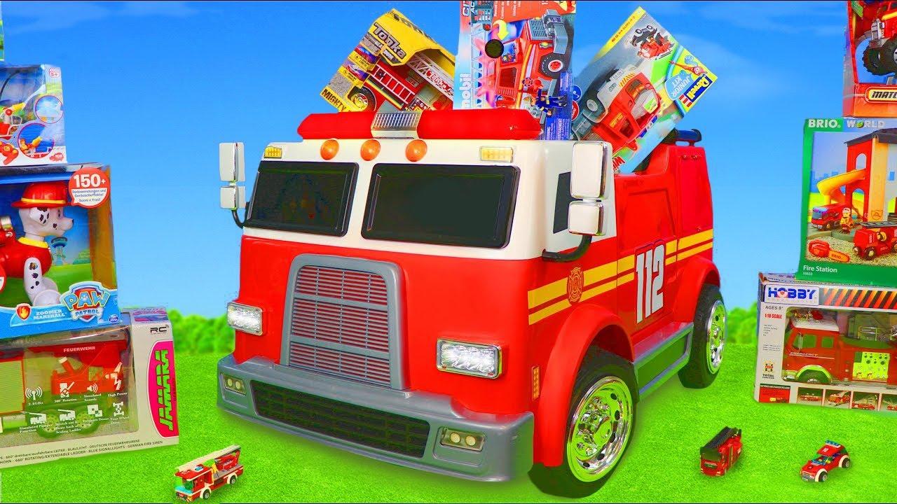Carrinho de bombeiros - Bombeiro e carrinhos  para crianças - Fireman Toys for kids