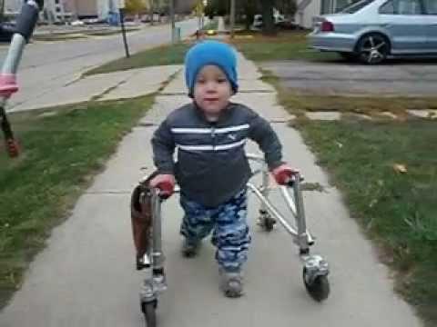 Jackson walking with Katy's Kloset walker 1