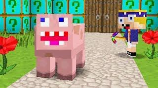 Ich trolle ihn heimlich als Minecraft Schwein 😂👌