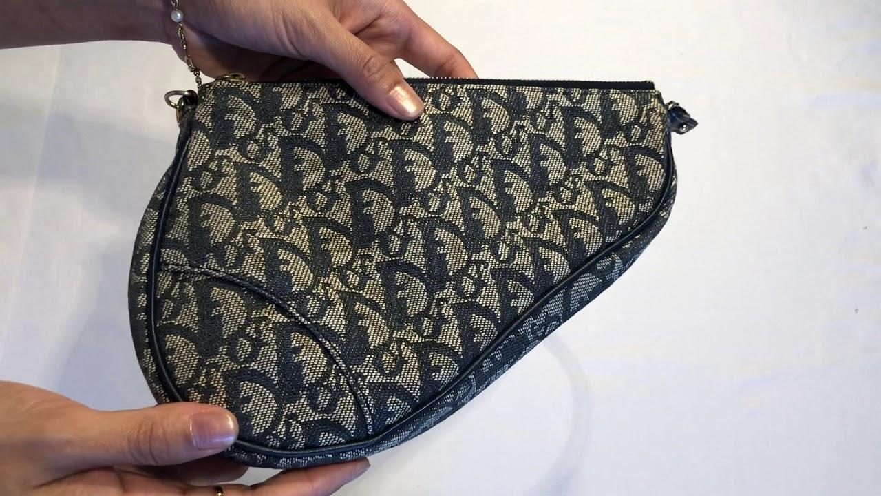 ed61e63e374 Dior mini saddle bag - YouTube