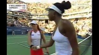 Venus Williams vs Jennifer Capriati 2001 US Open Highlights