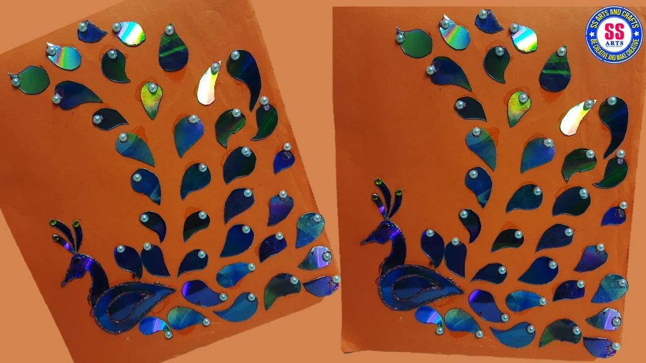 Peacock Wall Decor Out Of Waste Cd Room Decor Idea Old Cd Craft Ideas Best Out Of Waste Wall Art Youtube