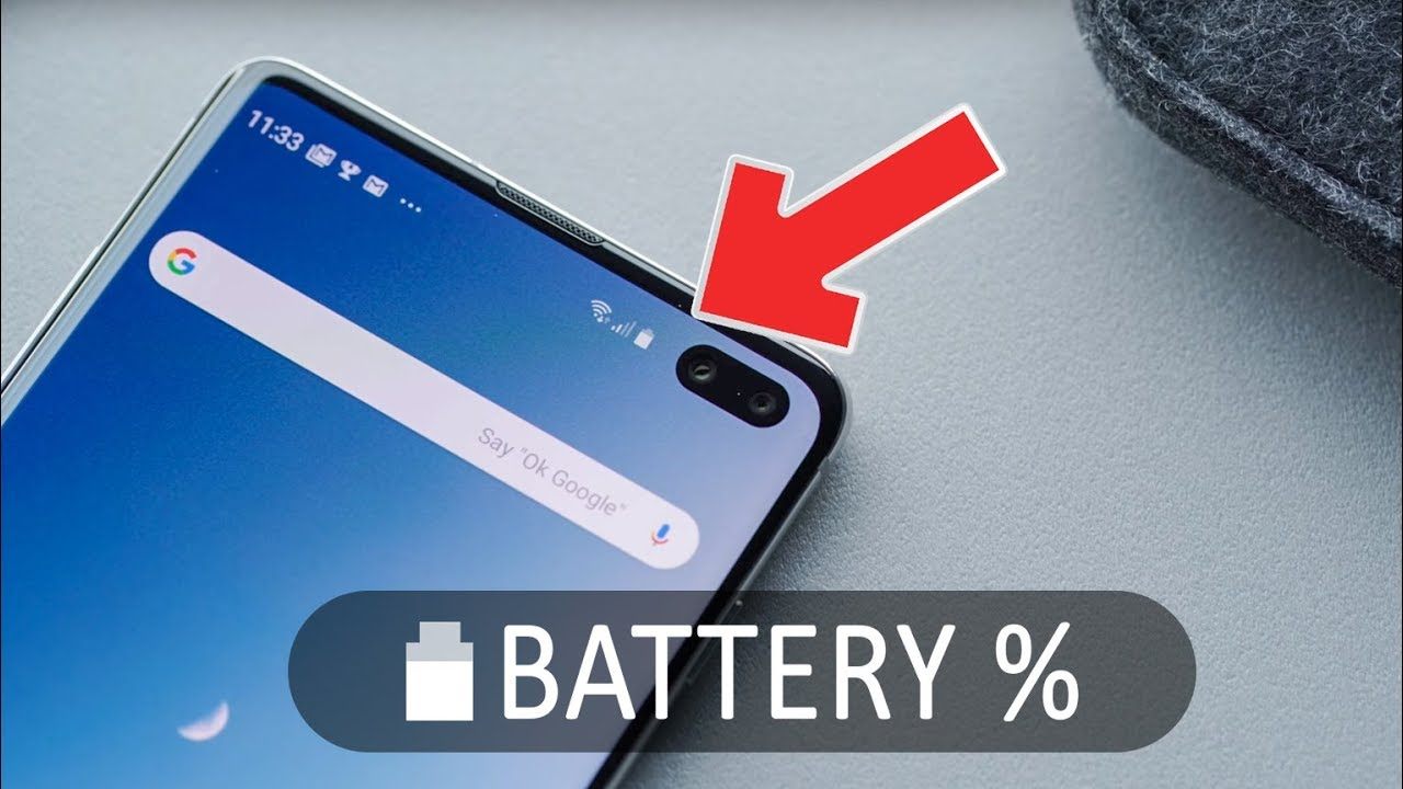 How To Display Battery Percentage in Galaxy S10e/S10/S10+ Android 9 Pie
