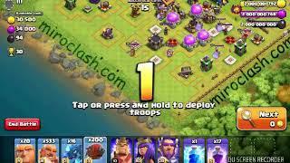 200 battle blimps attack in coc