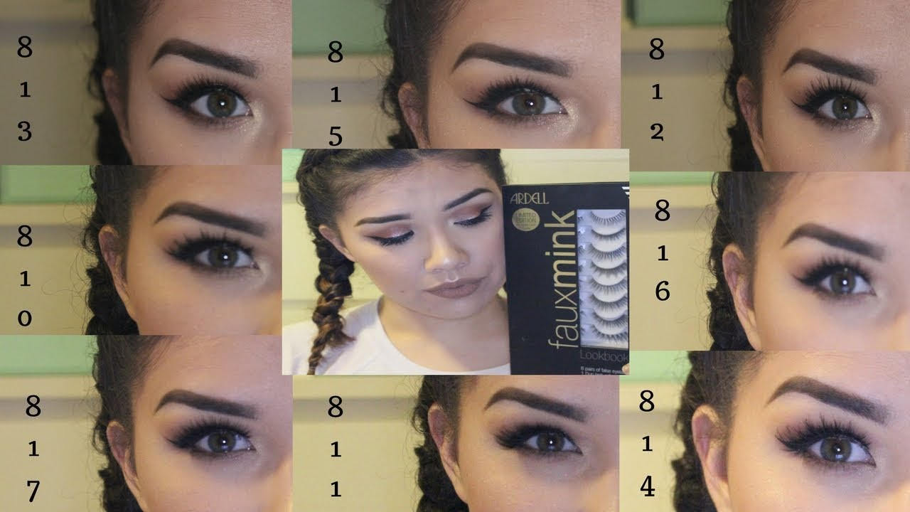 32353bc9f25 Try On | Ardell Faux Mink Lash Book | One Eye Comparison - YouTube