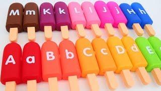 Learn Colors ABC Alphabets Ice Cream Popsicles ABC Song Nursery Rhy...