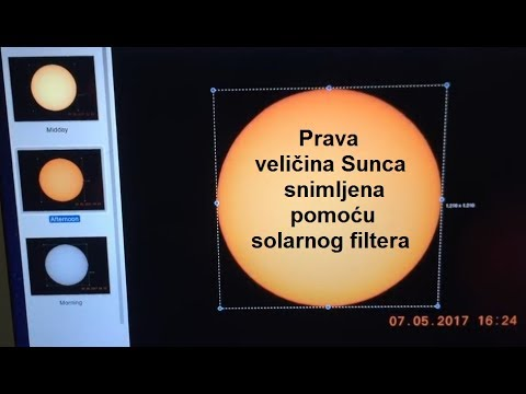 Ravna Zemlja – Prava veličina Sunca snimljena pomoću solarnog filtera