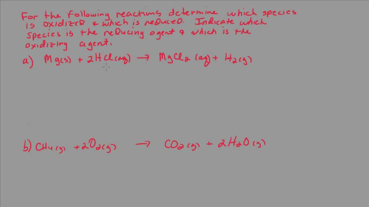 Determine Which Species Is Oxidized And Which Is Reduced In A Redox Reaction