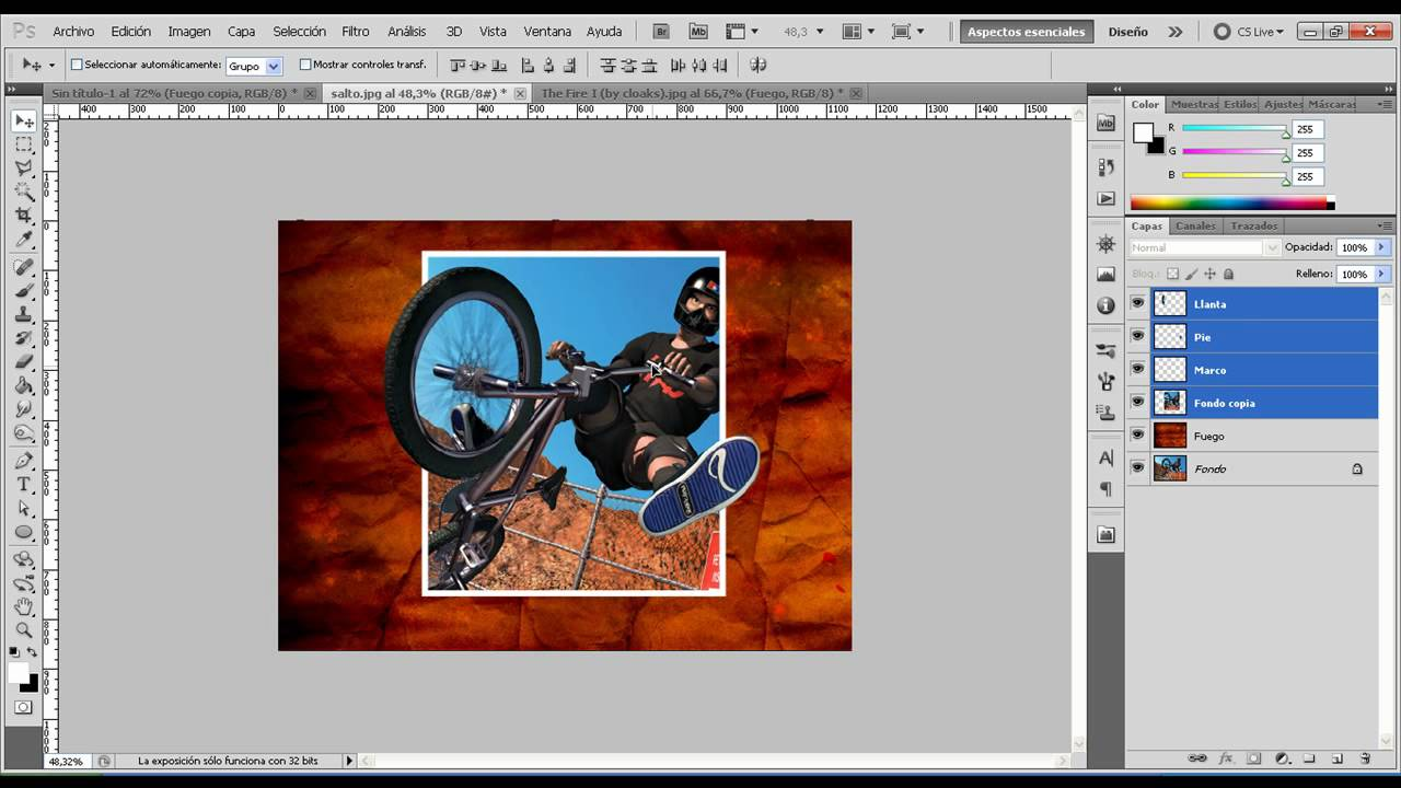 Tutorial Photoshop Efecto Fuera De Marco - YouTube