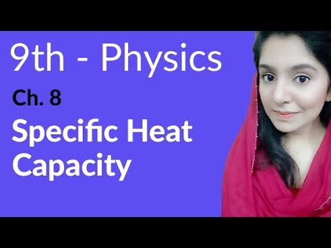 9th Class Physics Lecture,Specific Heat Capacity-Phy Ch 8 Thermal properties of Matter