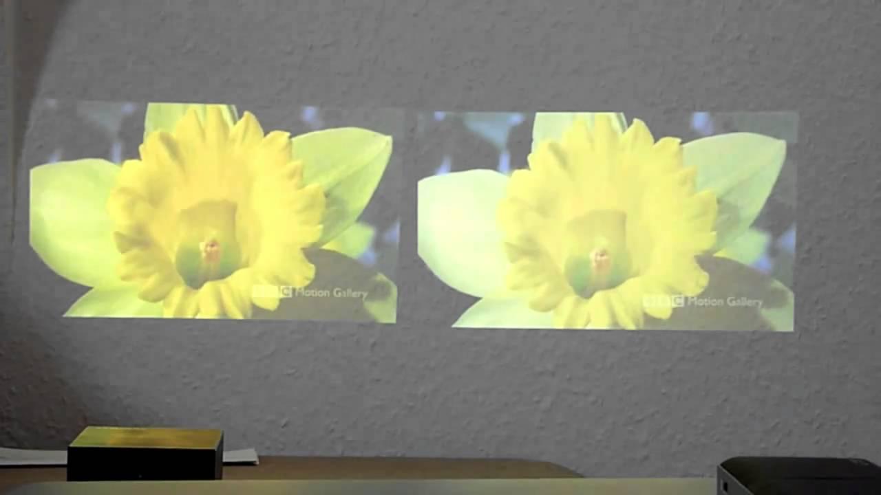 Beamervergleich Samsung SP-H03 vs. ACER-C20 - YouTube