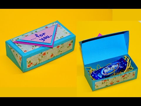 DIY paper crafts idea | Gift box ideas craft | How to make gift box easy | Gift box making