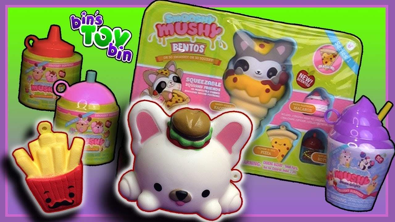 So Smooshy, Squishy, and Cute! Smooshy Mushy Squeezable Besties! Bins Toy Bin - YouTube