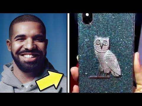 Drake Buys $400,000 Custom Made OVO Diamond iPhone Case Cover