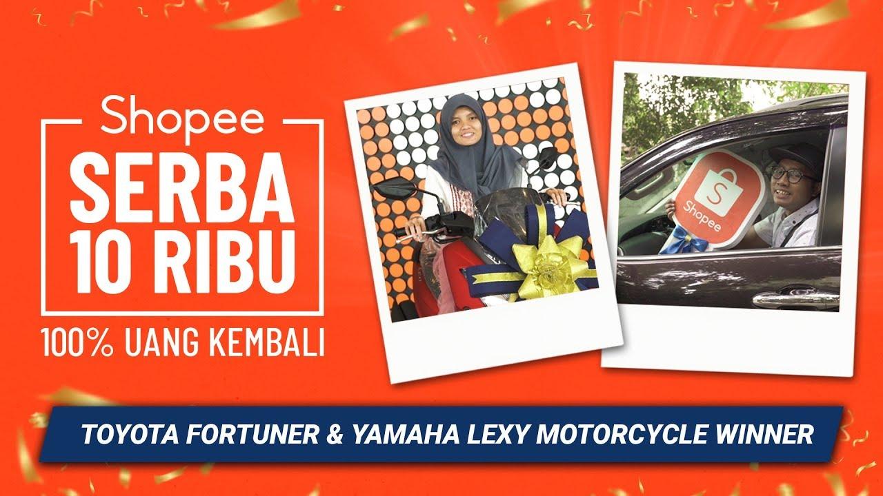 Pemenang Shopee Serba 10 Ribu Mobil Toyota Fortuner Motor