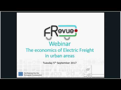 FREVUE Webinar #3 The economics of electric freight vehicles   5 September 2017