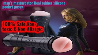 Man's masturbator Real silicone pocket pussy review !! Artificial Vagina TOY !! Buy now...