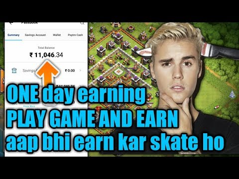 Earn 11000rs In One Day  Play Game And Earn Paytm Money  (clash Of Clans) (hindi)sam1735