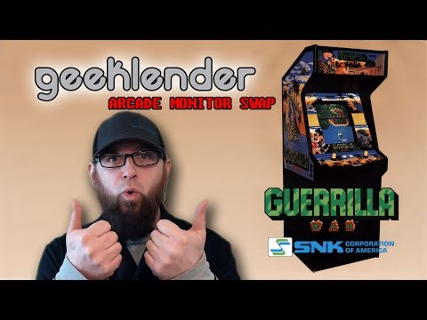 Arcade monitor swap, CRT to LCD - Brad Tratzinski