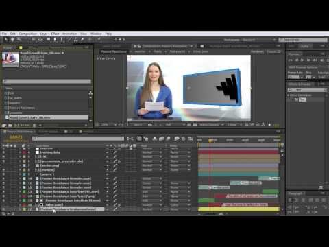 After Effects Tutorial: Digital Juice: Creating a greenscreen presenter animation in AE (2.version)