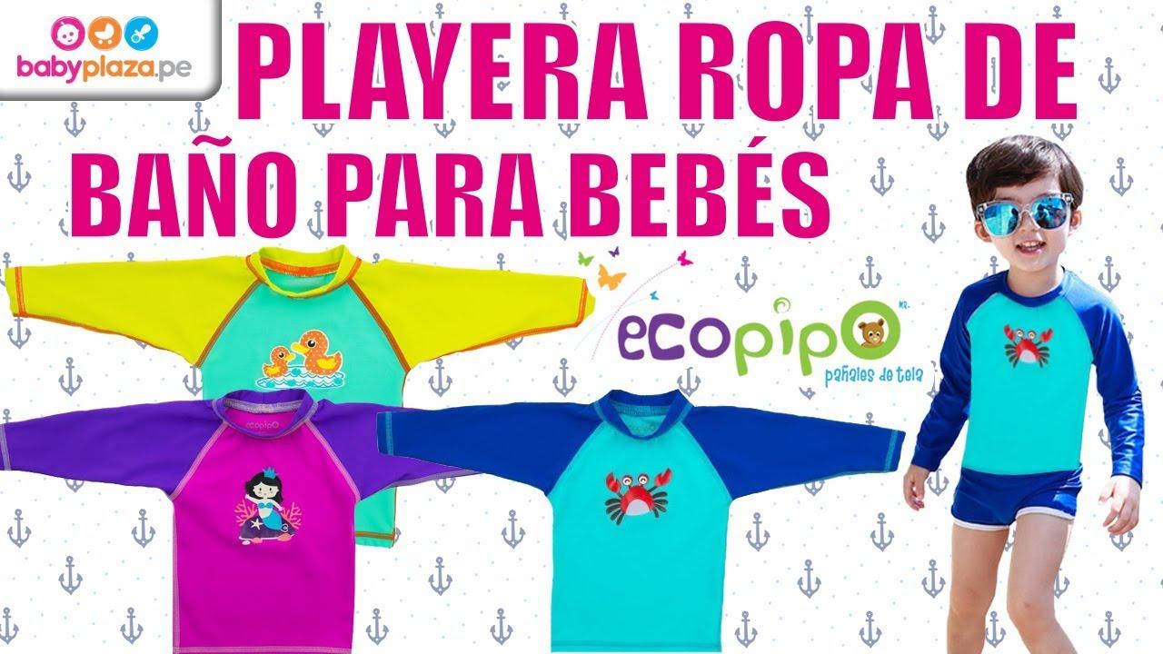 ae99134a1 Playera Ropa de Baño para Bebés- Ecopipo   BabyPlaza - YouTube
