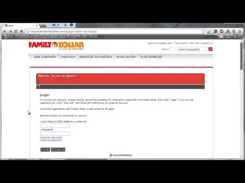 Family Dollar Application Online Video