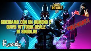 LET's PLAY TO FORTNITE MASCHERATI WITH A RUMENO - REAL VITTORY IN SINGLE