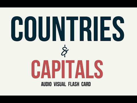 Countries and Capitals of the world Audio Visual Flash Card 2016