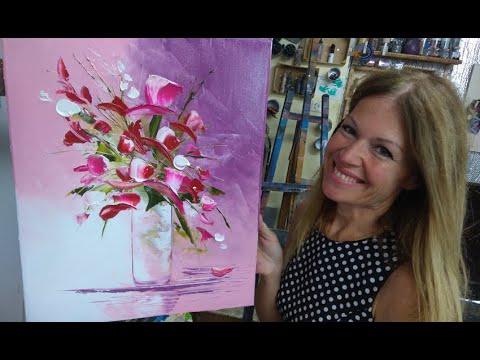 tuto peinture 4 facons de faire les fleurs par nelly lestrade