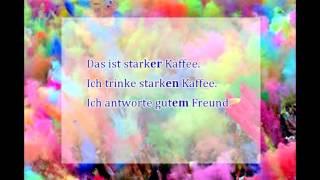 Сильное склонение прилагательных в немецком языке. Грамматика немецкого языка