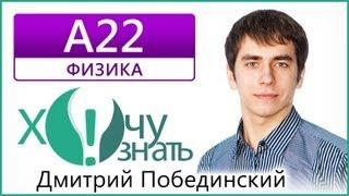 А22 по Физике Демоверсия ЕГЭ 2013 Видеоурок