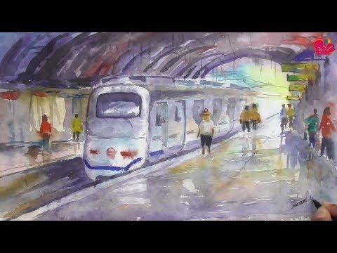 как рисуют в метро видео прекрасная