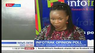 Infotrak released results of an opinion poll conducted to gauge whether Kenya is headed in the right
