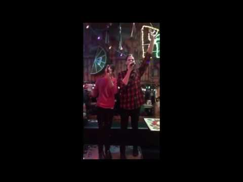 Scott and Mitch singing Defying Gravity | Karaoke Bar (Snapchat)