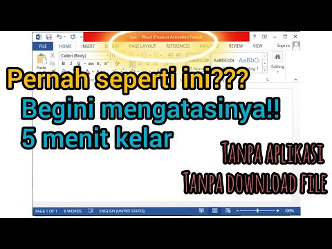 CARA MENGATASI PRODUCT ACTIVATION FAILED MICROSOFT OFFICE | YTVer ID