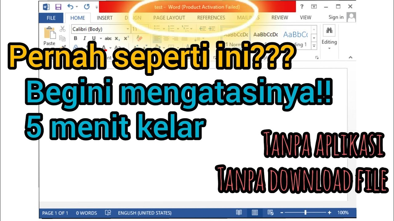 Cara Mengatasi Product Activation Failed Microsoft Office Ytver Id Youtube