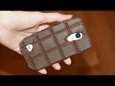 DIY PHONE CASE Life Hacks - Hot Glue Craft /  How To Make The FIRST Eatable Phone Case!