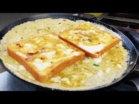 WoW Egg Butter Bread Omelet | Bread Omelette  At IDL Lake Hyderabad | Street Food Star