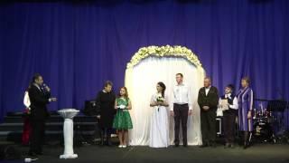 Кухарчук Слава Кухарчук Ира венчание церковь Христианская Надежда