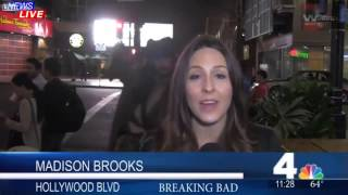 Captain Jack Sparrow Interrupts News Reporter During TV Live Broadcast