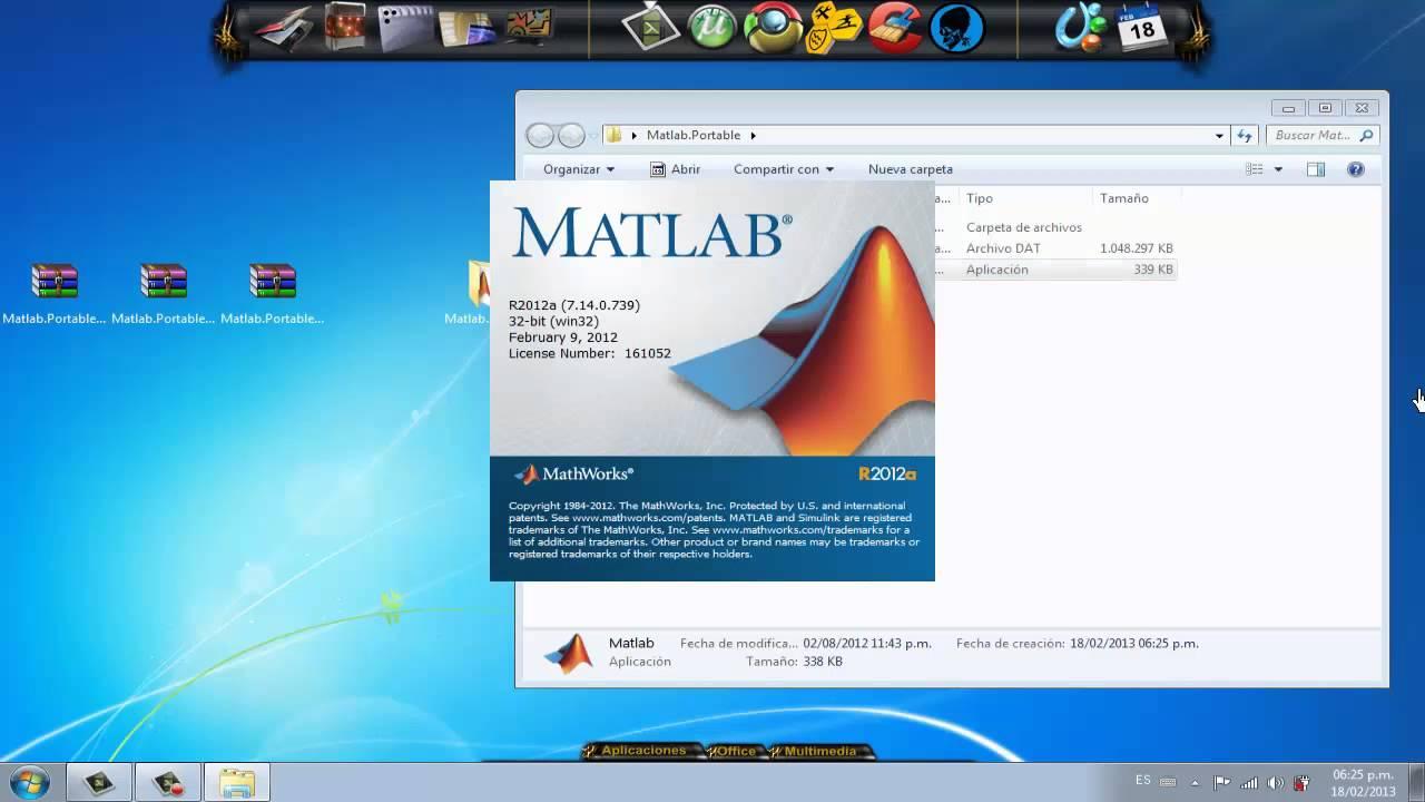 portable matlab 2012