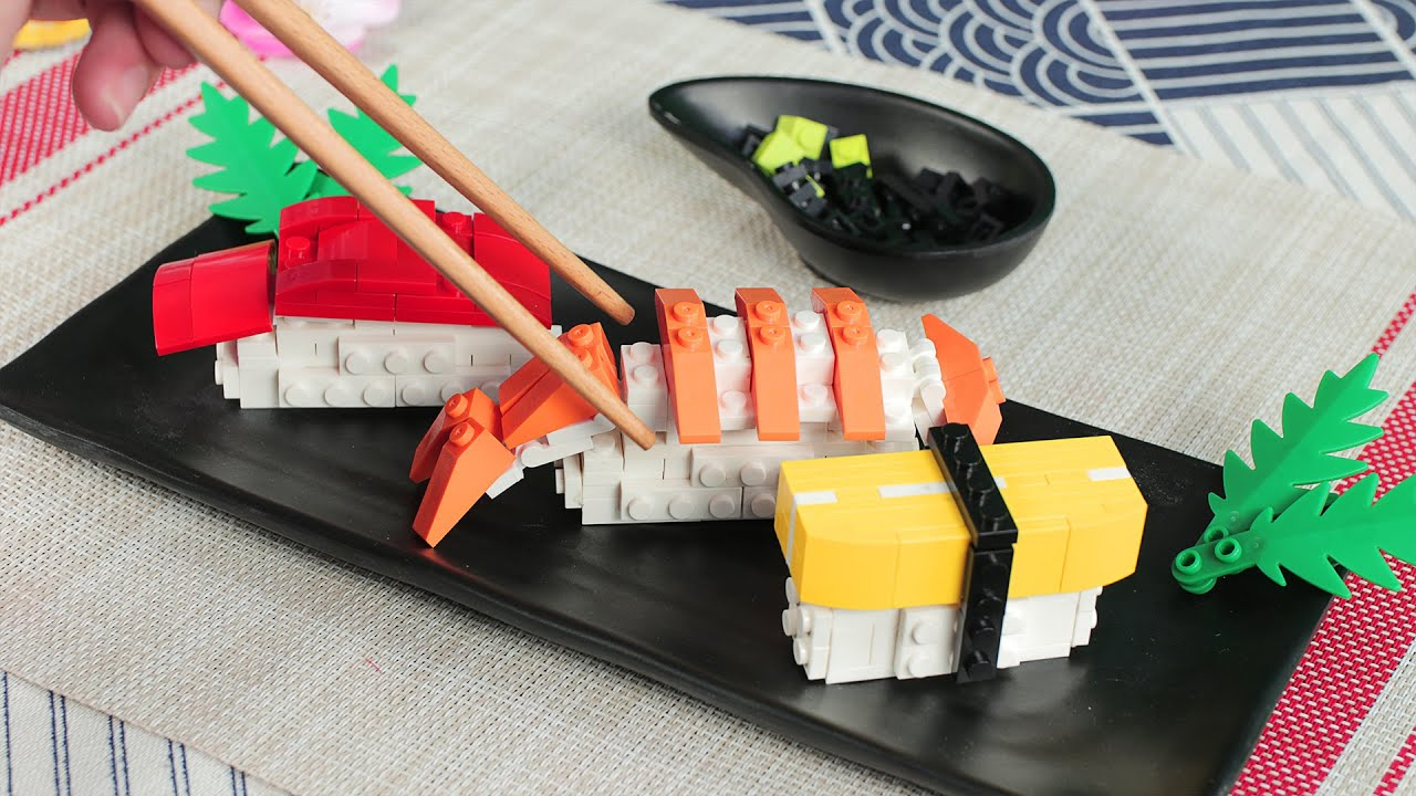 Download Eating Lego Sushi - Lego In Real Life   Stop Motion Cooking & ASMR Funny Video