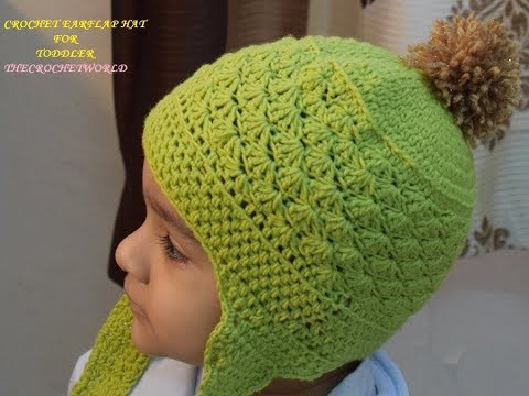 0e88a26b831 Crocheted baby boy earflap hat-B