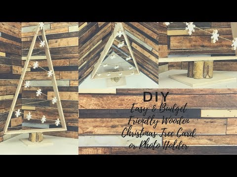 DIY FARMHOUSE CHRISTMAS DECOR 2018|EASY & BUDGET FRIENDLY WOODEN TREE