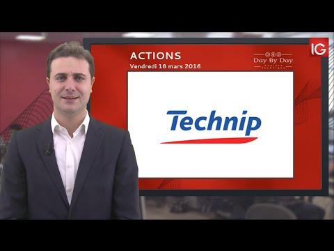 Bourse - Action Technip, en direction de 56,85€ puis 59,51€ - IG 18.03.2016