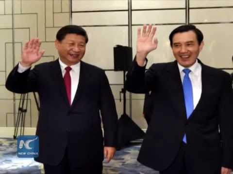 Leaders join hands across Taiwan Straits