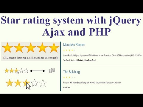 Building Star Rating In PHP Using JQuery And AJAX | Simple Example 🔥🔥🔥