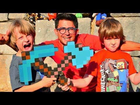 #Minecraft Pedasa 2. Türkçe süper oyunlar - Nail Baba, Adrian ve Arseny ile erkek çocuk videoları
