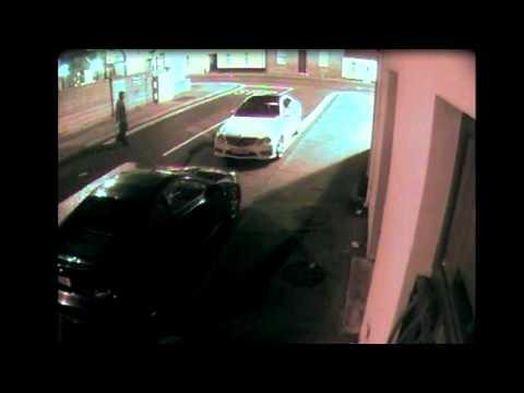 Car Thief Throws Brick at Car, Brick Bounces Off Car, Knocks Thief Out