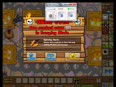 Bloons Tower Defense 5: Highest Round on Z Factor- Round 123 (Easy)